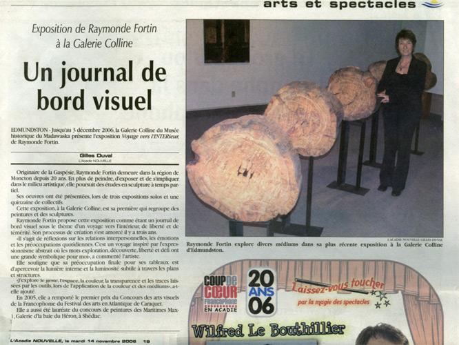 Novembre 2006, exposition Voyage vers l'intérieur