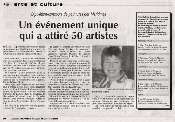 Octobre 2005, prix Max 1