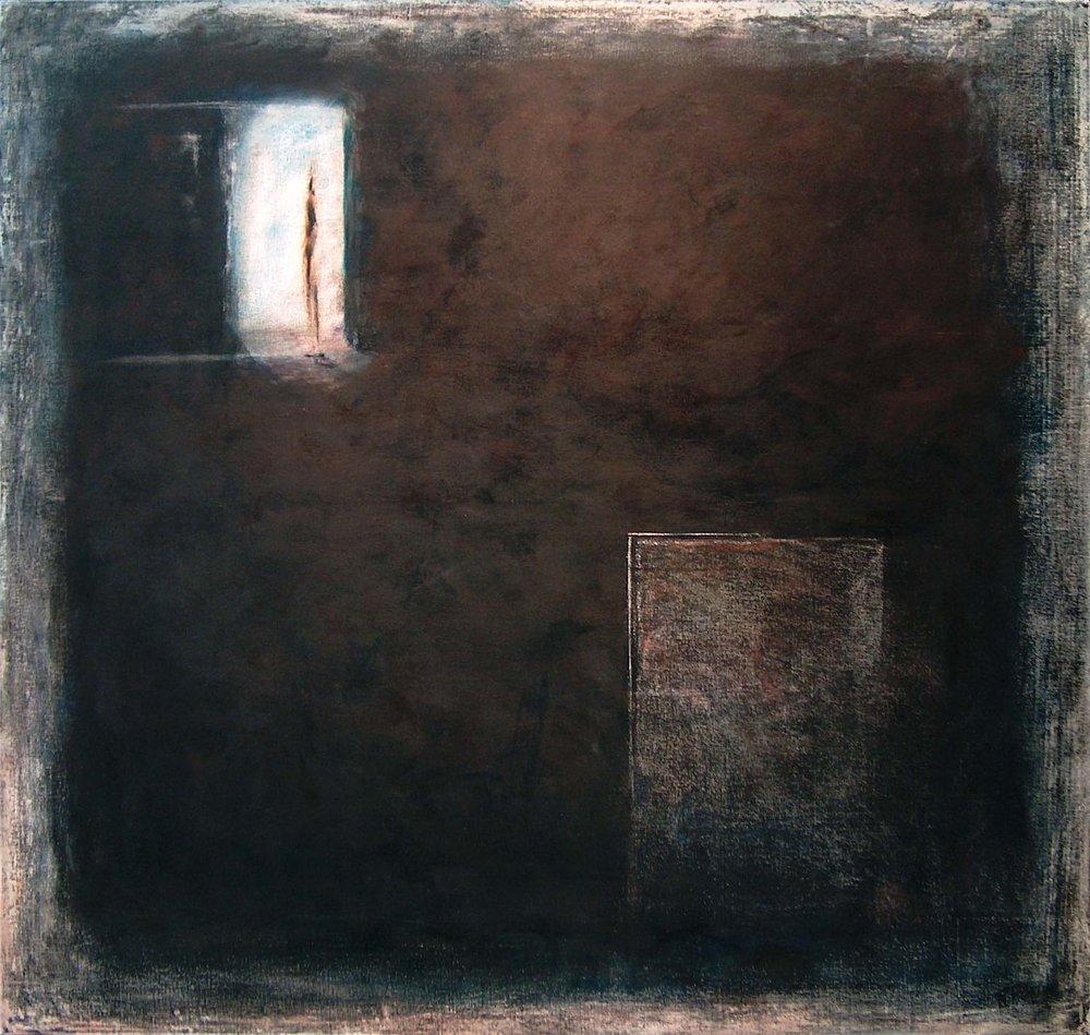 Nuit Blanche, 2003, 150 cm x 130 cm, acrylique sur toile brute, encadrée