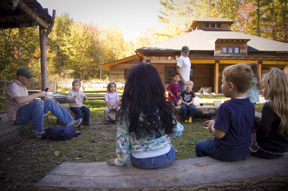 Nature Preschool at Chippewa Nature Center was opened in 2007; a program that now serves 124 three- and four-year-old children. The building shown here was built in 2009 to house the growing program.