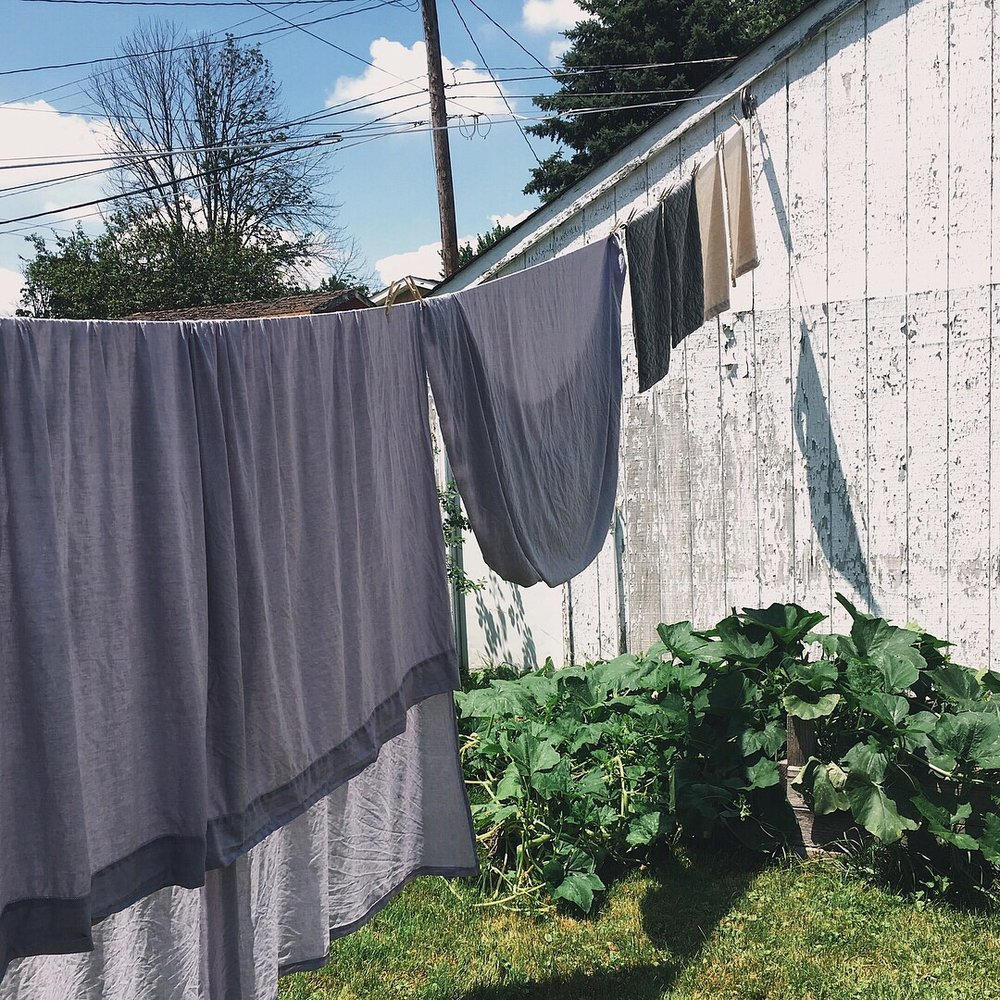 clothesline laundry air drying by samantha spigos