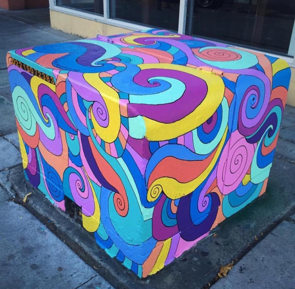 Utility Box for the Visual Public Art Project, North Park, San Diego, 2015