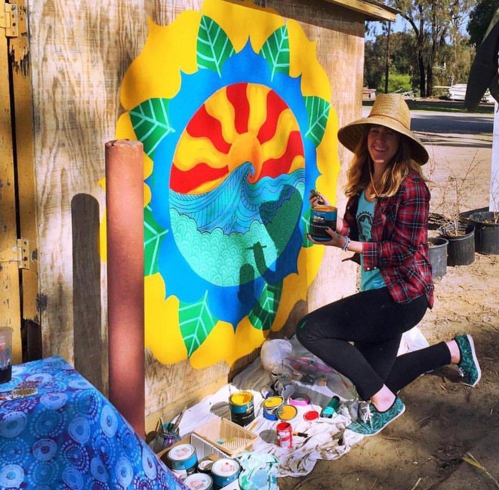 Mural at Coastal Roots Farm, Encinitas, CA, 2016