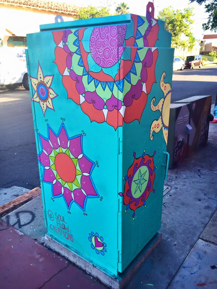 Utility box for the Visual Public Art Project, Normal Heights, San Diego, 2015