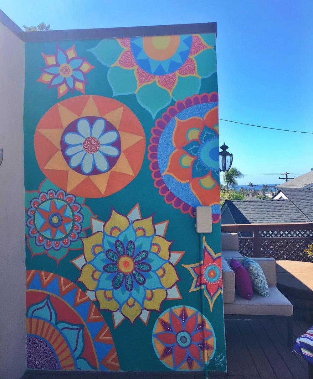 Mural at private residence, Ocean Beach, San Diego, 2017