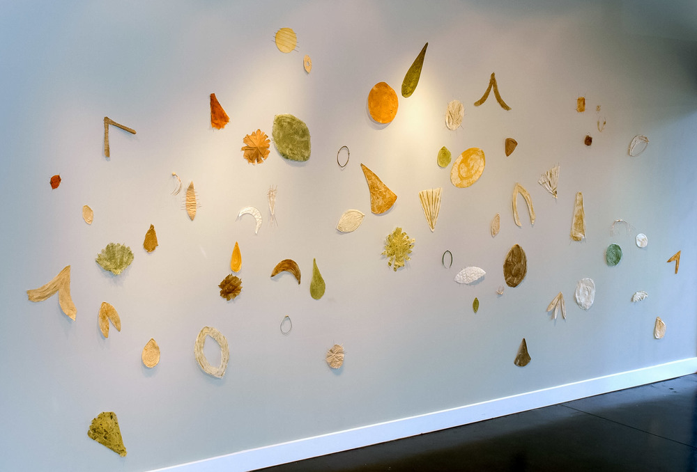 Findings   Installation- 50 forms- wire, mulberry and mixed papers  2010