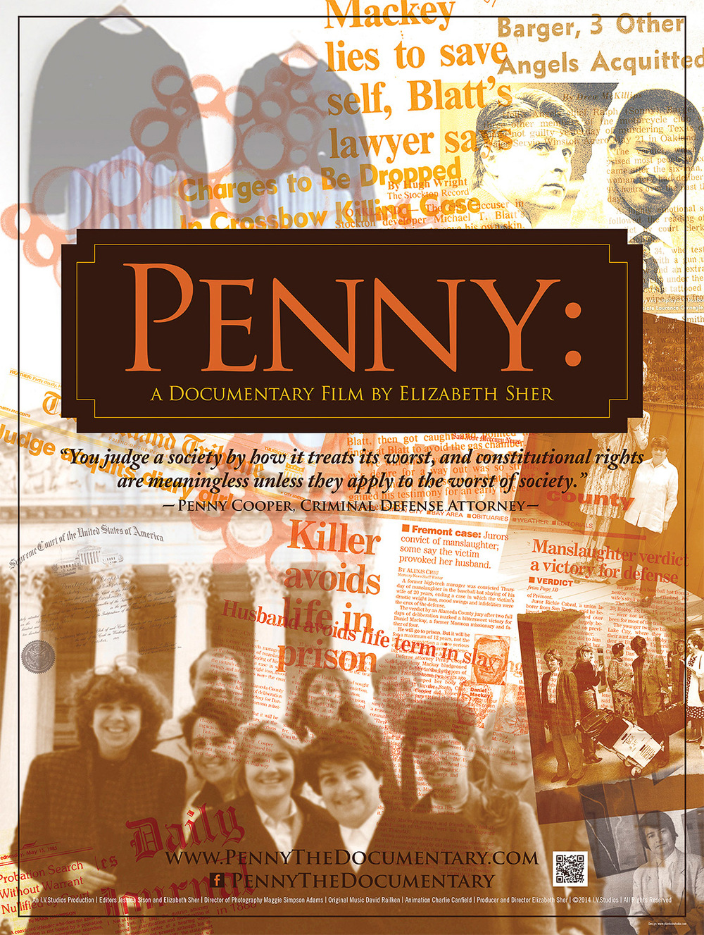 Poster for  PENNY  © 2015 a 30 minute documentary by Elizabeth Sher