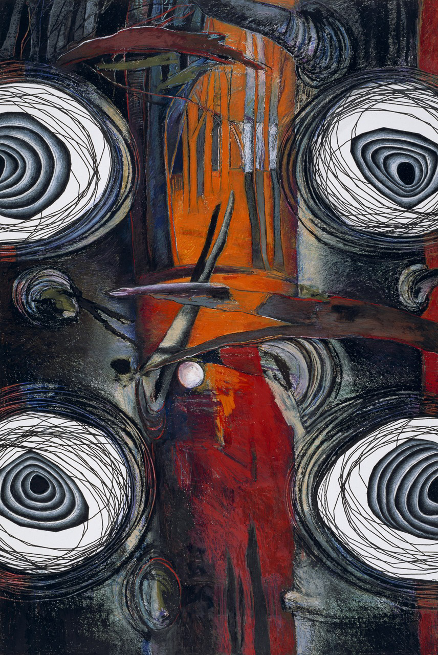 "Spiral Series 4 Oil & Pigment 70"" x 47"""