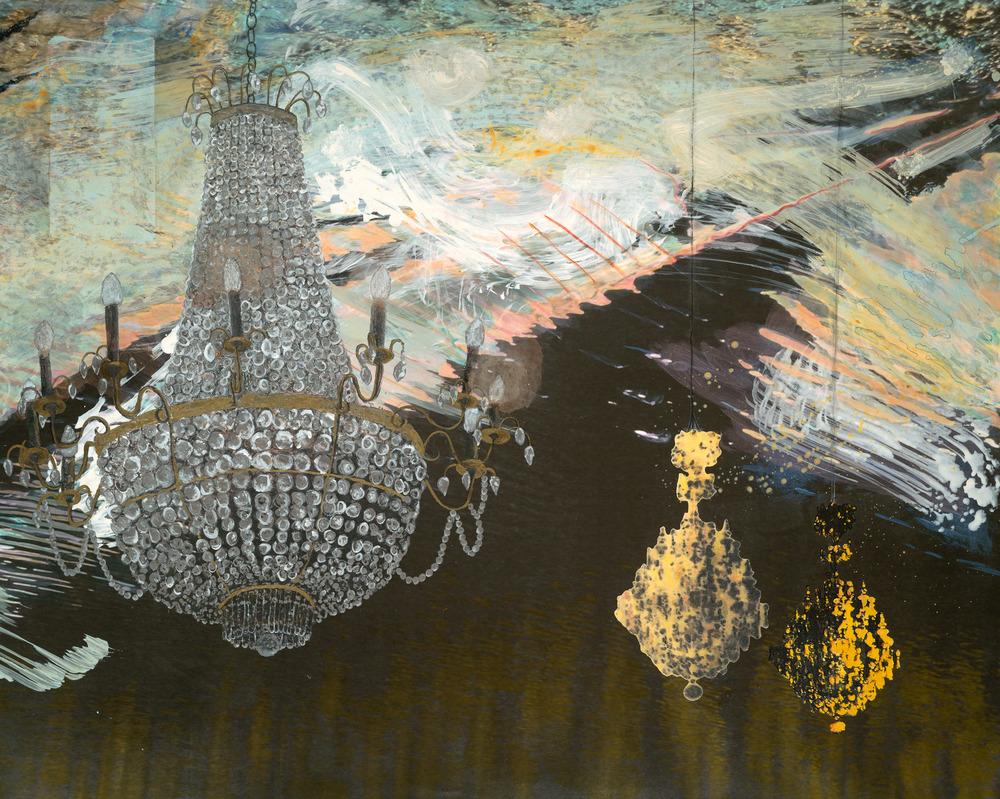 """Chandeliers , 2012, 40 1/2 x 50 1/2 x 1 5/8"""""""