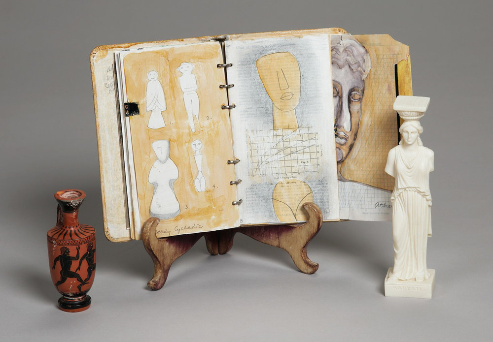 "Greek Book, 1999, Mixed Media, 6"" x 9"""