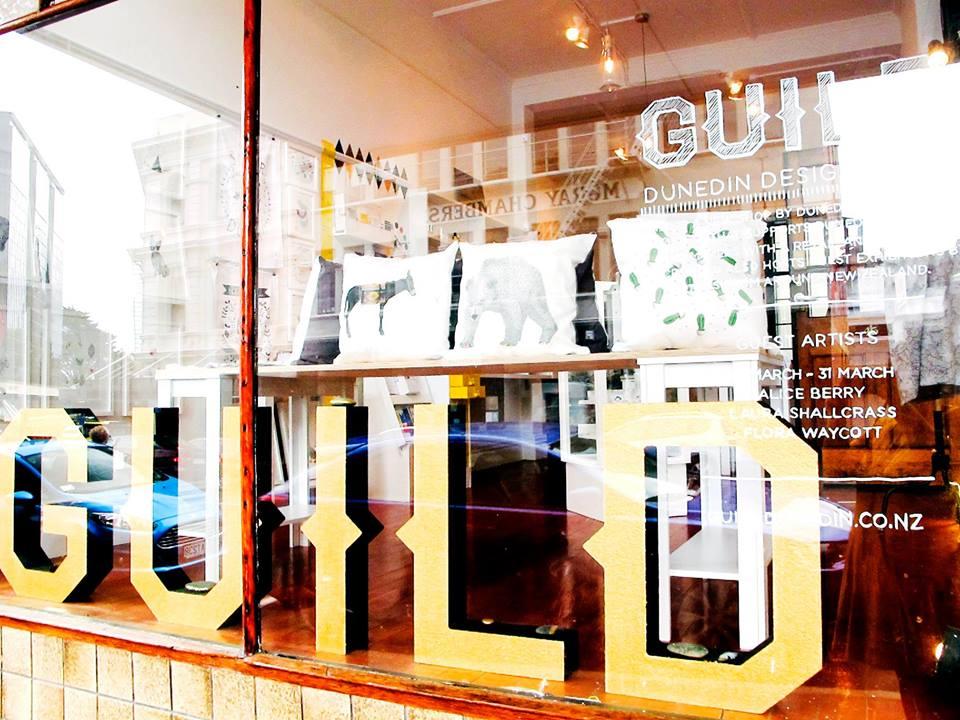 Guild Shop window on Moray Place, Dunedin