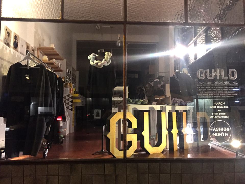 iD Dunedin Fashion Week window display at Guild - March 2016