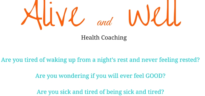 Alive and Well health coaching