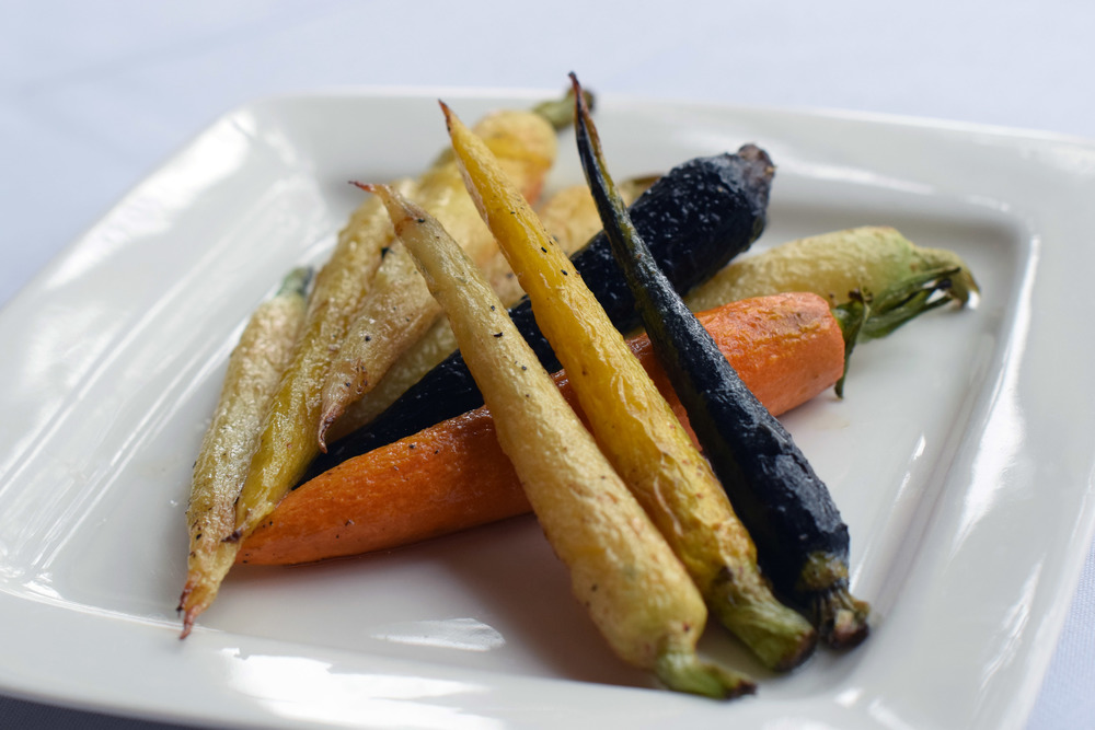 Roasted Rainbow Carrots Fall 2015 Menu