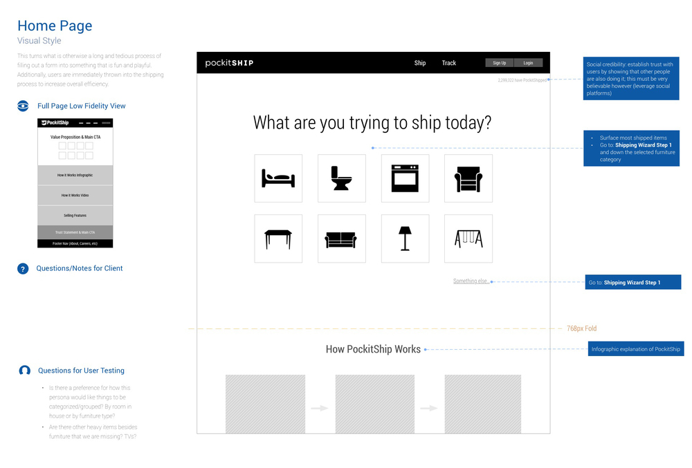Initial landing page idea to quickly get users started on the experience