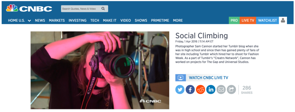 Cannon featured on CNBC broadcast and online