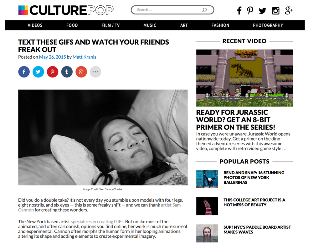 Scaring people on Culture Pop
