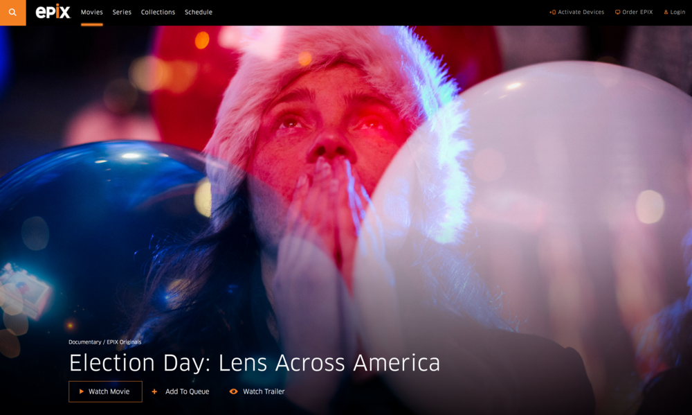 Sam Cannon featured as one of seven photographers at work on Election Day 2016, capturing images from different vantage points across America as the election took a course few expected.
