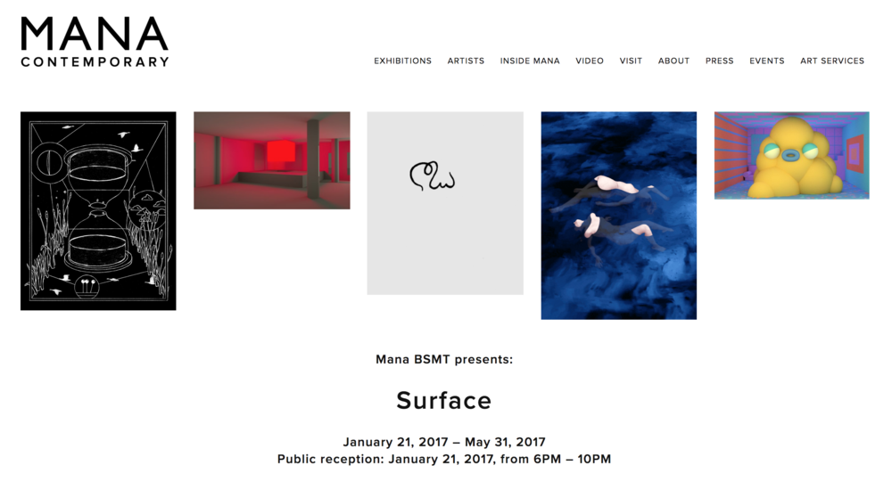 Surfaceis a group exhibition opening in Mana BSMT's new 3,000 square foot gallery. It will feature work by five Mana BSMT Residents who work primarily as GIF artists: Matthias Brown (Traceloops), Sam Cannon, Julian Glander, Thoka Maer, and Hayden Zezula (Zolloc). Until now, their artwork has been created for and seen on screens, and shared across social platforms. This exhibition is their first exploration into creating work that can only be experienced in a physical space: sculpture, installation, performance, and gaming. By eliminating screens and creating site-specific experiences, this exhibition will illustrate a collective surfacing from the digital to the physical realm.
