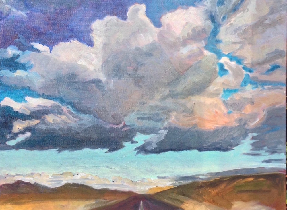road under the clouds