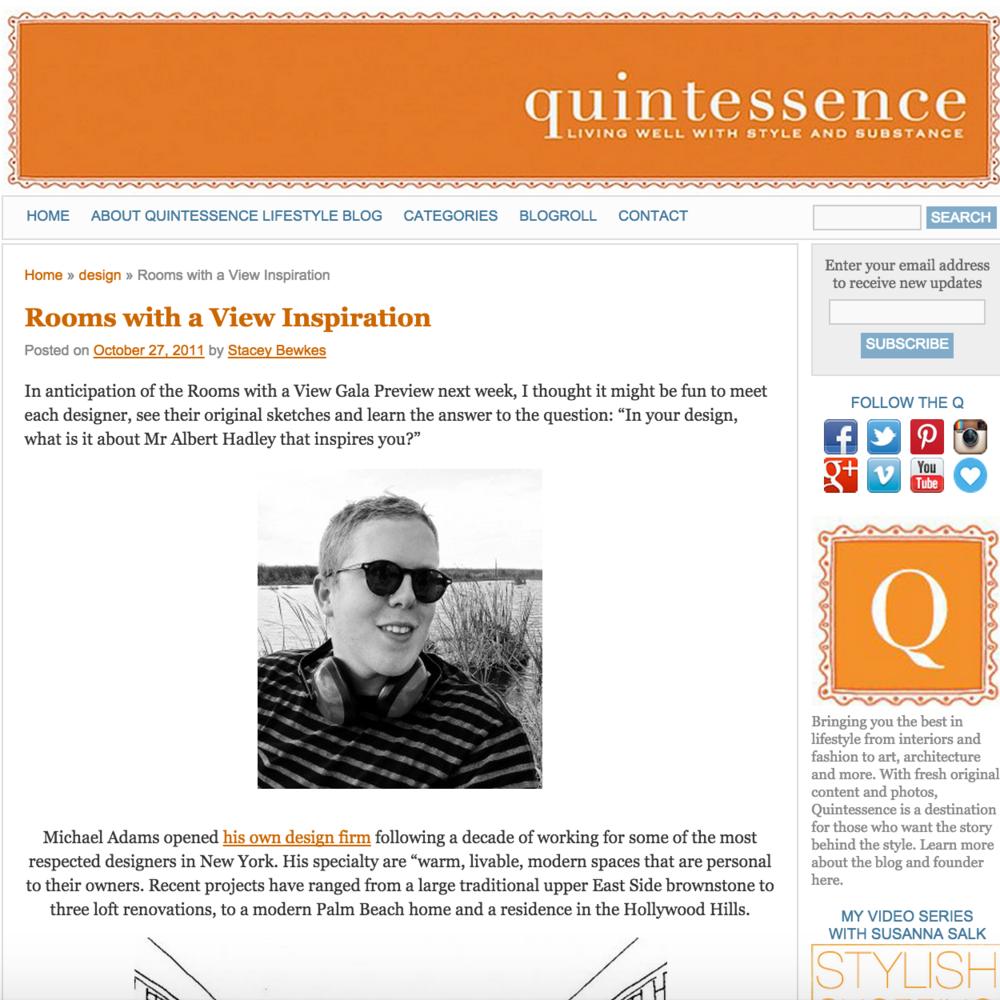 Quintessence October 2011