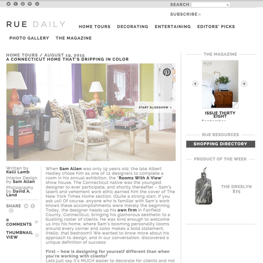 Rue Magazine August 2015