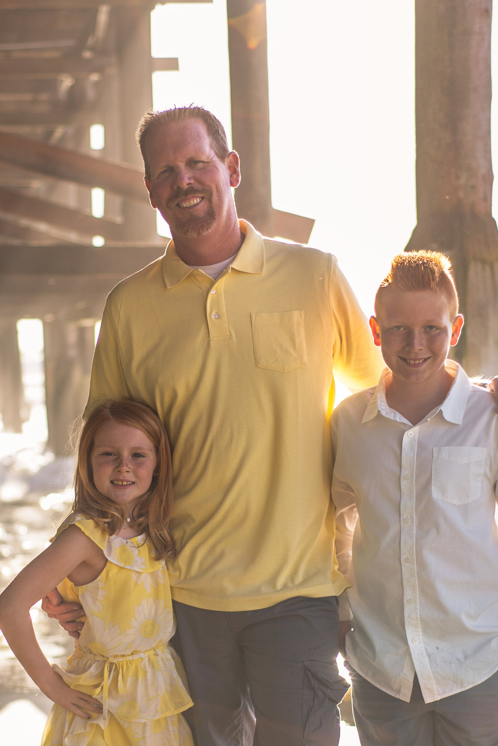 Family, San Diego, Yellow, Fatherhood, Crystal Pier, Bare feet, Beach