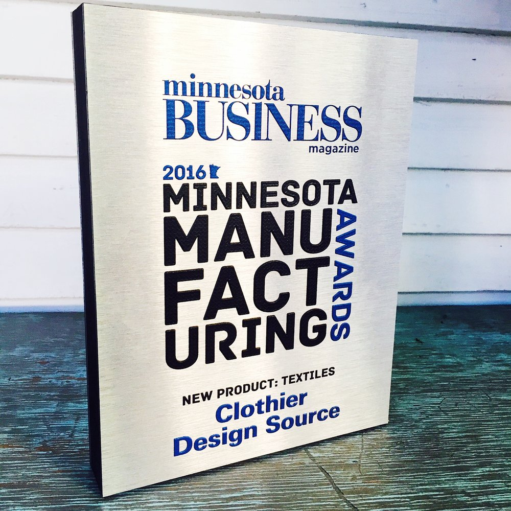 Minnesota Business Best New Textile Award 2016.JPG