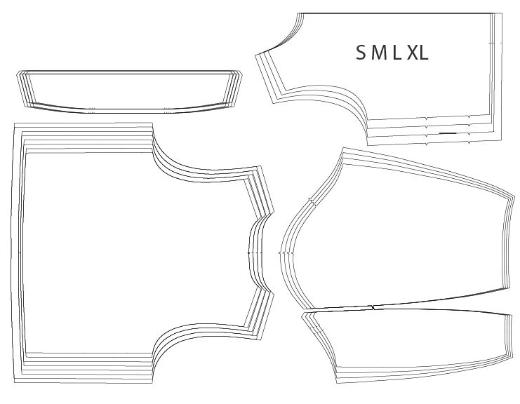 Graded pattern