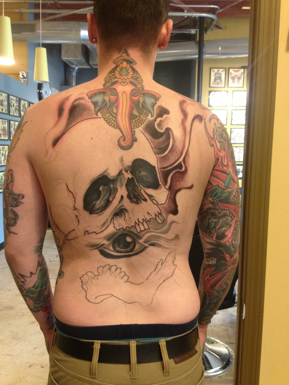 Progress on my buddy's back.
