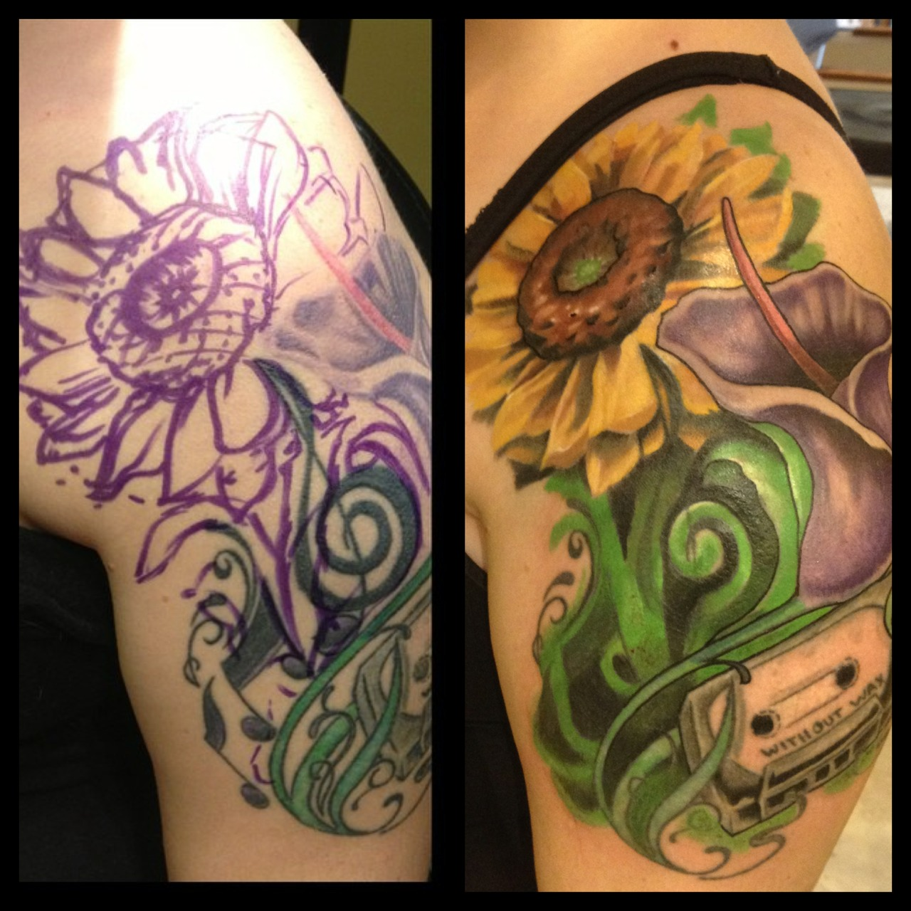 Rework / cover up freehand fix.
