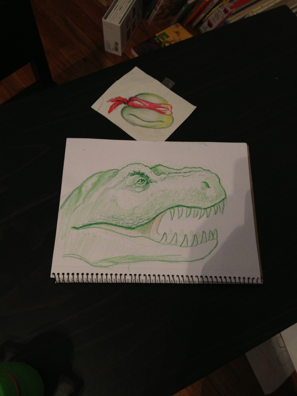 "I also work with crayons.  Commissioned by my son.  Paid with high fives and ""woo hoo!"""