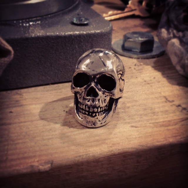 A new hand made skull ring ready to go   KurtFagerland.tumblr.com