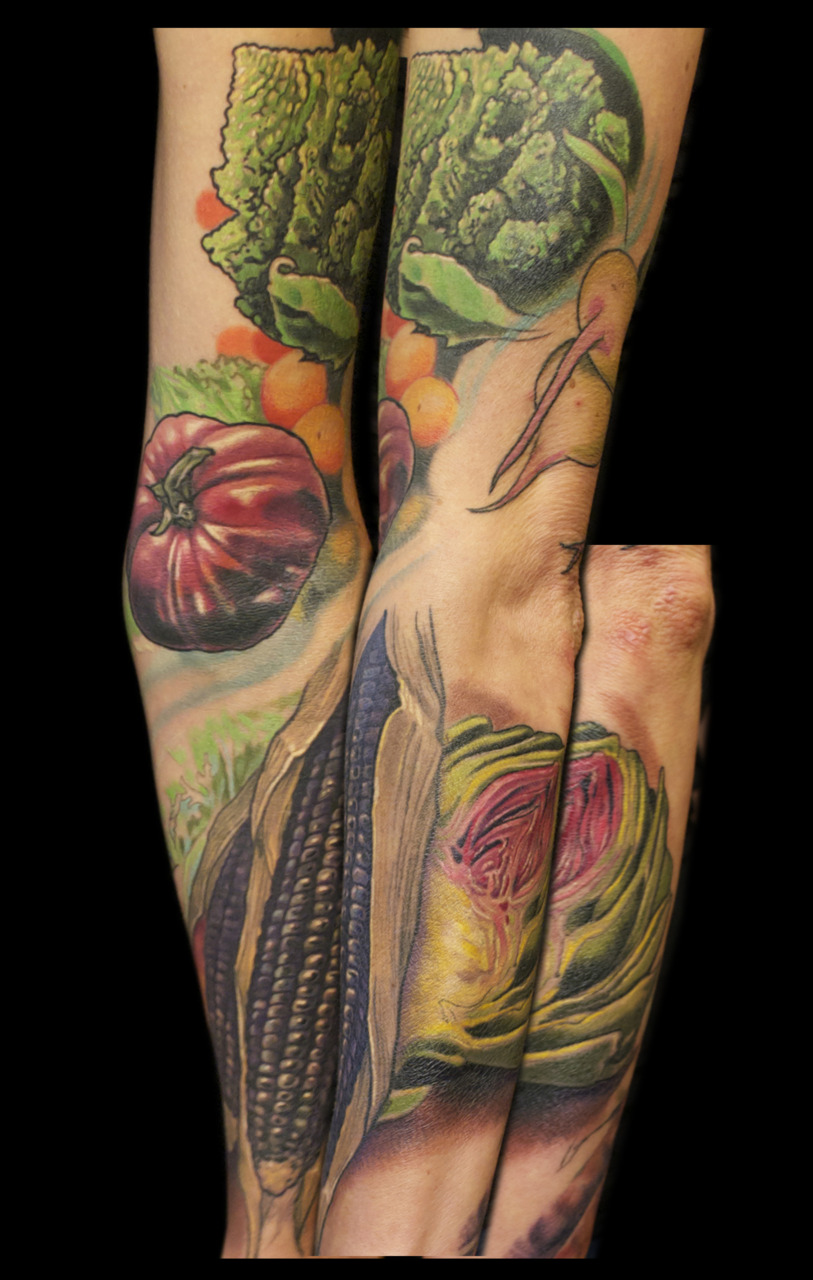 progress so far on the vegetable sleeve