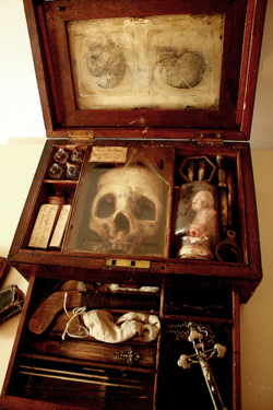 mysticexplorations: 18th century Vampyr anatomical research case. Owned by the physician and naturalist Francis Gerber.