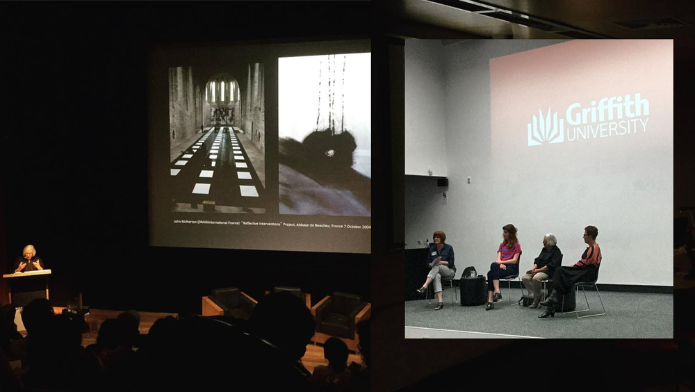 Deanna Petherbrige at GOMA & Keynote speakers at Planery session. Photo Alicia Hollier