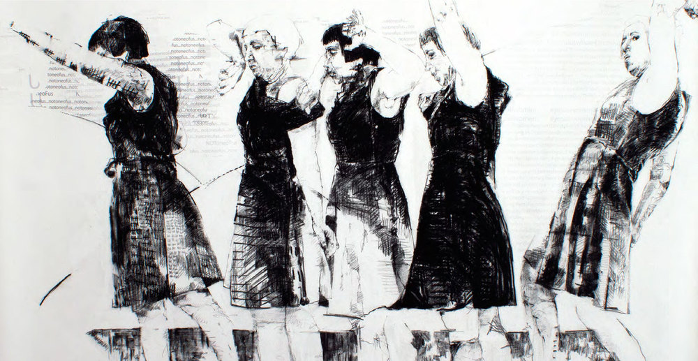 Carolyn McKenzie Craig Throwing like a girl 2015, Image courtesy of the artist