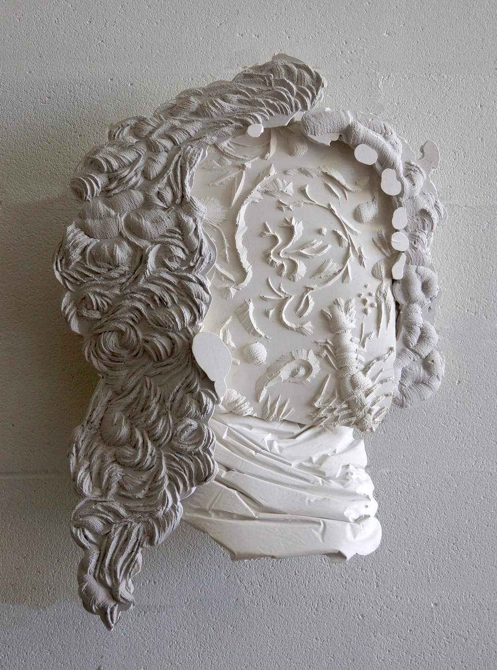 Bruce Reynolds  Man of Letters #3  2014, Hydrastone & pigment, 86 x 60 x 18cm.