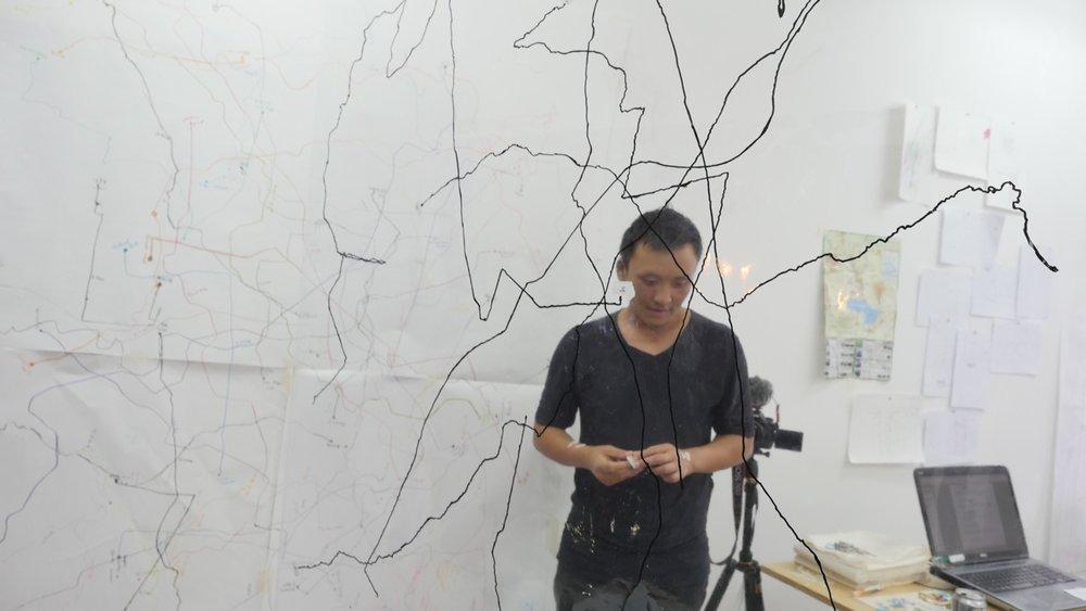 Anthony Vanghua Vue in the studio.