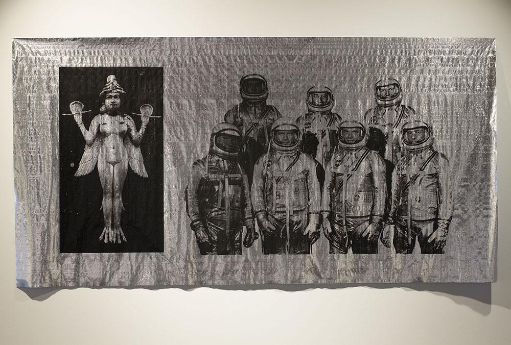 Blair Coffey  Mercury  2016.Screen-print on foil insulation. 135 x 260 cm.