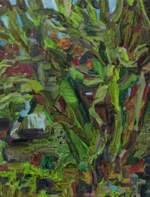 Cosima Scales  Garden  2016. Oil on board. 40 x 30 cm.