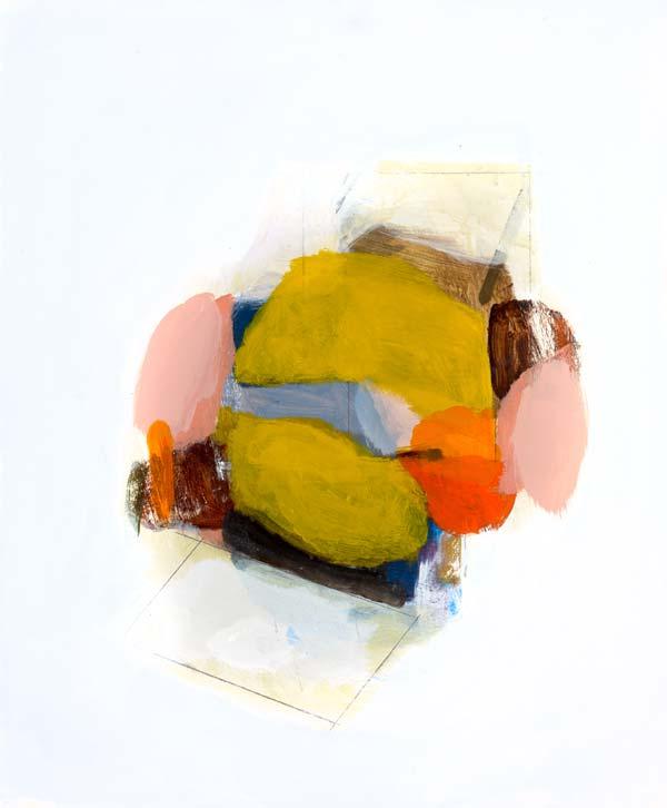 Michael Cusack  Cascella 2014, Mixed media on board 60 x 50 cm