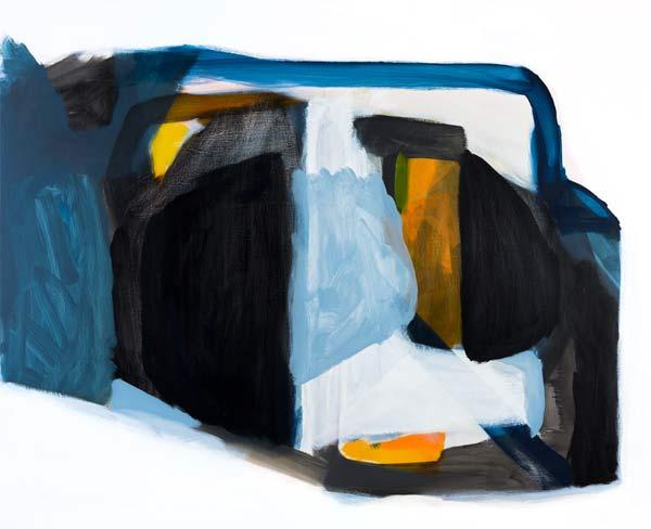 Michael Cusack  Fils 2014, mixed media on linen 137 x 168 cm