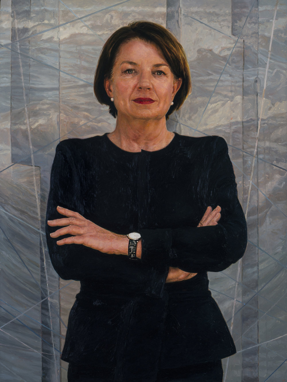 Dr Julie Fragar's oil portrait of The Hon. Anna Bligh AC.