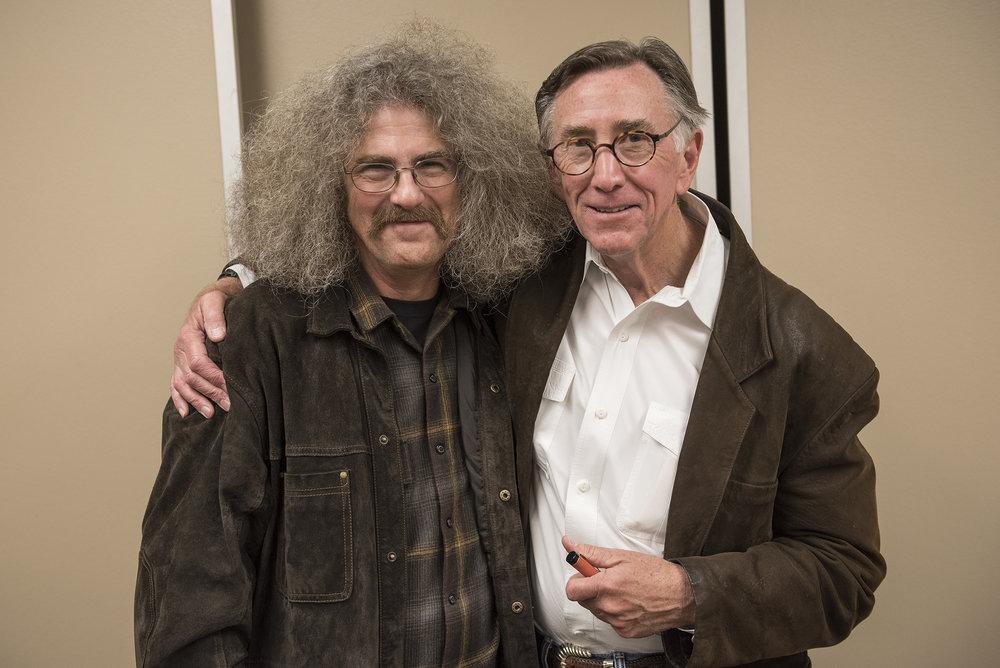 George Kalamaras and Dan Gerber. Photo by Jim Whitcraft