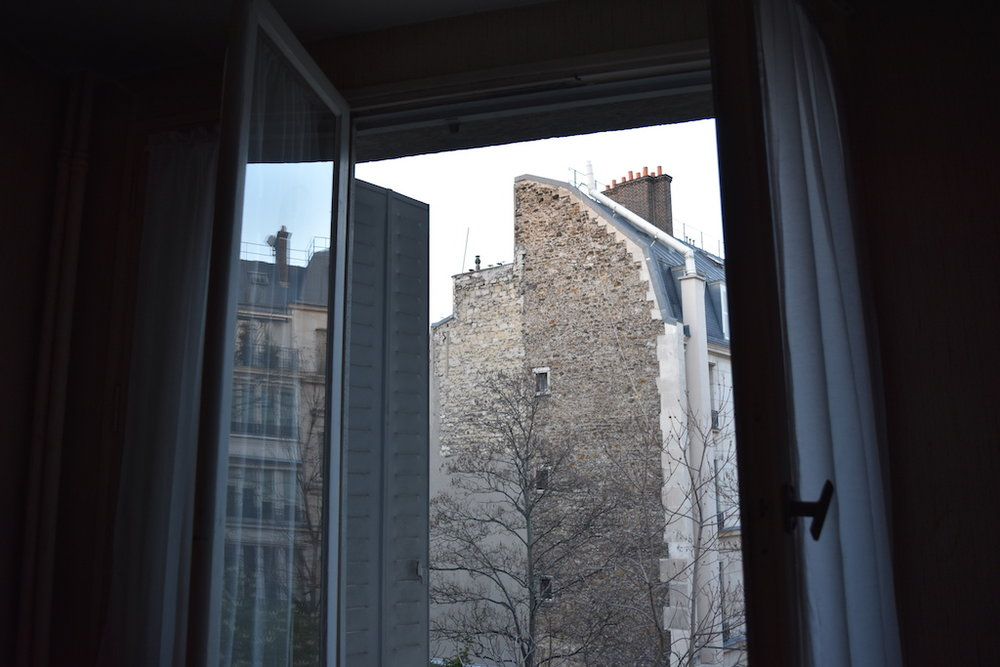 The Maison Eymard, view from the bedroom