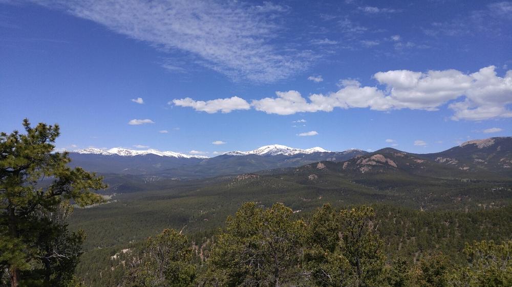 Mt Bierstadt and Mt Evans from the top of Lions Head
