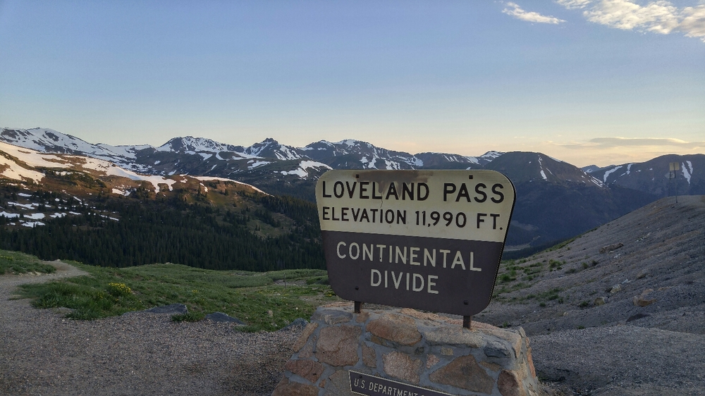 The starting point at Loveland Pass