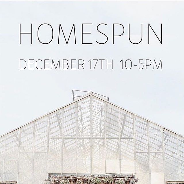 SAVE THE DATE - Homespun Holiday is upon us this Saturday! Can't wait to see everyone! ・・・ Homespun 2016! Serious fun brewing at the Dos Pueblos Ranch Greenhouse, where over 40 makers, artists, bakers & brewers will gather December 17, 10-5.  Would love to see you there! Photo by @annadelores  301 La Casa Grande Circle, Dos Pueblos Ranch exit. #Repost @karinsheltonart