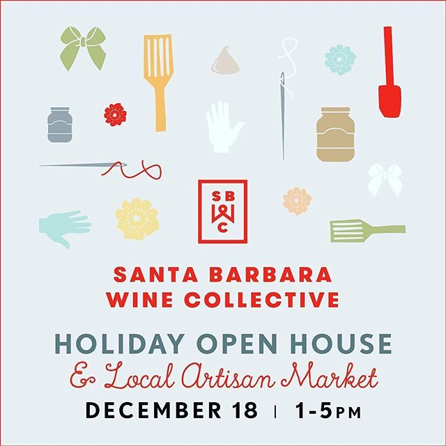 "SAVE THE DATE - Holiday Open House at @sbwinecollective this Sunday! ・・・ We still have seats left for our @farmbelly Cooking School Sunday, Dec. 18, 11am. Join Farmer Michelle's workshop and craft handmade holiday gifts. Tickets are $30 and include instruction, crafted gift to take home and a glass of mulled wine. Then, stay from 1pm to 5pm as we host our Holiday Open House & ""Shop 'Til You Drop"" Artisan Market. Shop uniquely Santa Barbara gifts for friends and family. Local vendors will be on site to sell their beautifully crafted, handmade items – @farmbelly Handmade Foods, @chapalafarms Jam, @jessicafosterconfections, and @mi_refugio_projects Leather Goods! Of course we'll have @helenaavenuebakery goodies and wine by the glass specials. Don't miss this great opportunity to shop & sip the best of Santa Barbara! Happy Holidays! #handmade #holidaygifting #artisan #market #openhouse #sipsb #sbcwine #sbwinecollective #funkzone #santabarbara #shoplocal #drinklocal #eatlocal #Repost @sbwinecollective"